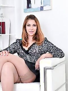 Колготки под юбкой (15 фото) - порно фото